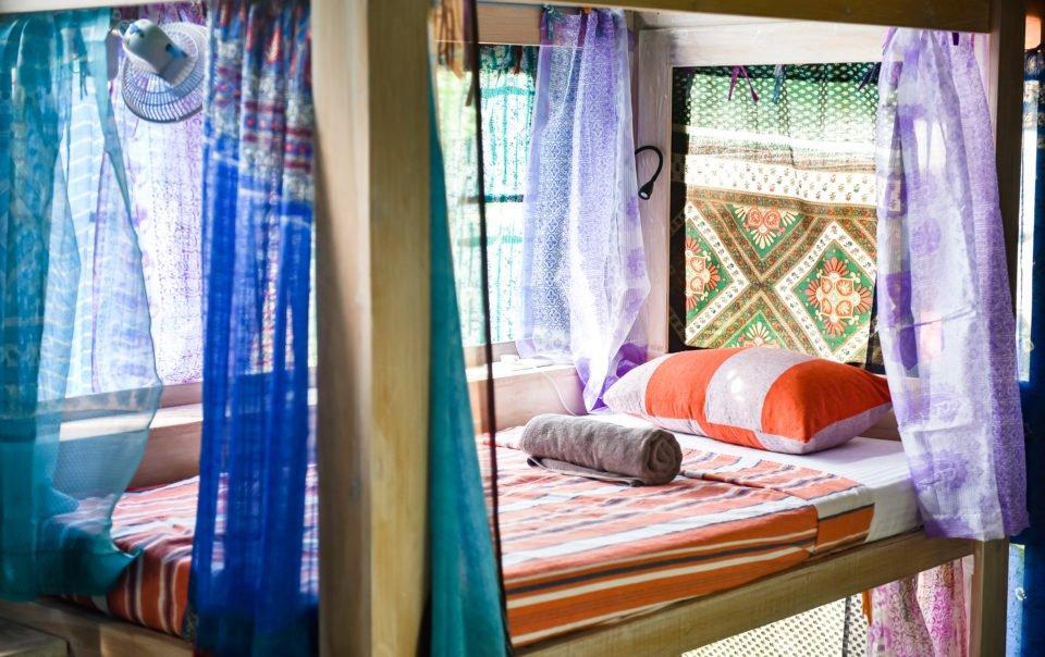dorm tent accommodation single bed sri lanka