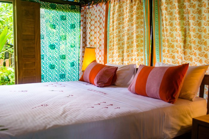 luxury tent accommodation double bed sri lanka