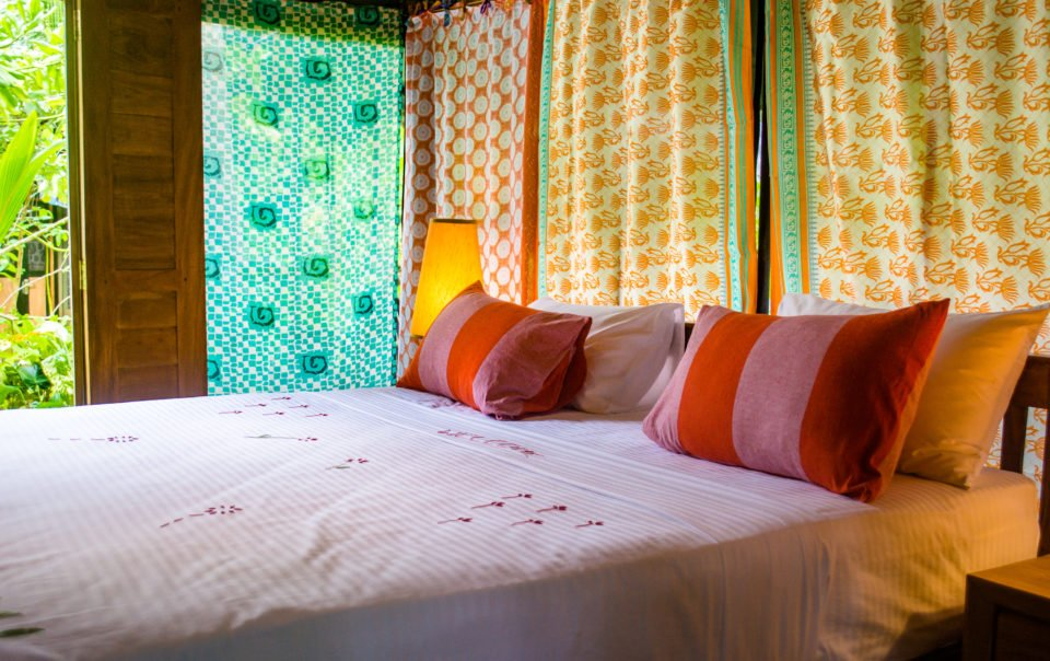 luxury tent accommodation double bed sri lanka
