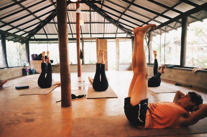 yoga class in the shala in sri lanka